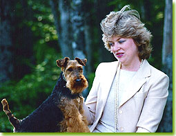 Lee Steeves and Welsh terrier Typist